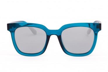 Mėlyni akiniai su sidabriniais stiklais