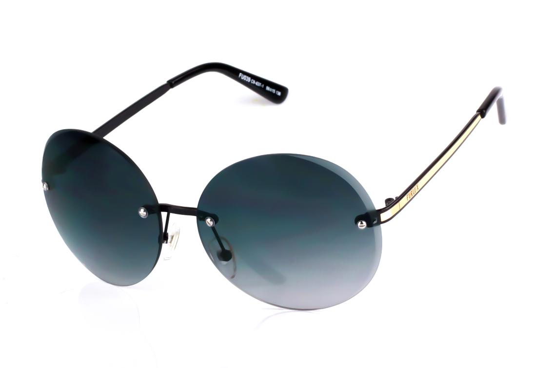 Pilki apvalūs moteriški akiniai be rėmelio