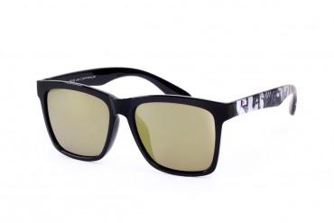Saulės akiniai poliarizuotais žalsvais stiklais