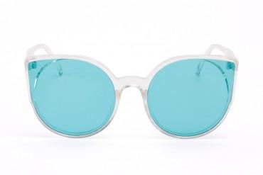 Skaidrūs melsvi akiniai nuo saulės