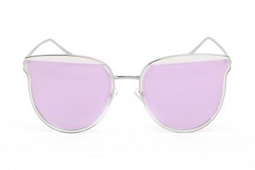 Saulės akiniai violetiniais veidrodiniais stiklais