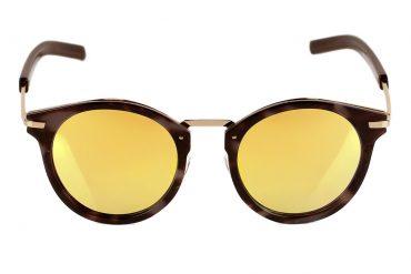 Apvalūs saulės akiniai veidrodiniais stiklais