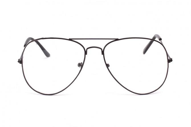 Skaidrūs aviator akiniai