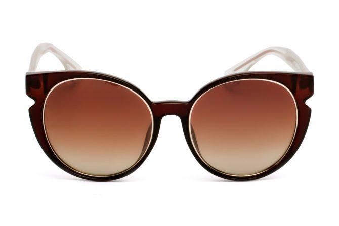 Rudi drugelio formos akiniai moterims
