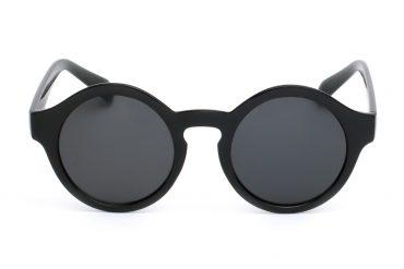 Apvalūs juodi akiniai moterims