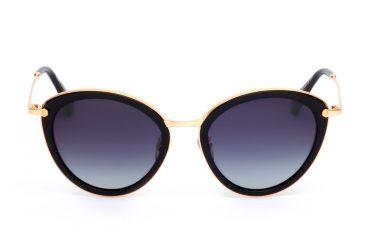 Juodi akiniai nuo saulės su auksu
