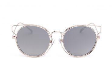 Veidrodiniai apvalūs stiklais akiniams