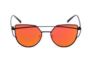 Raudoni maži akiniai nuo saulės
