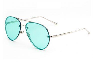 Aviator mėlyni skaidrūs akiniai