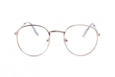 Sidabriniai apvalūs akiniai