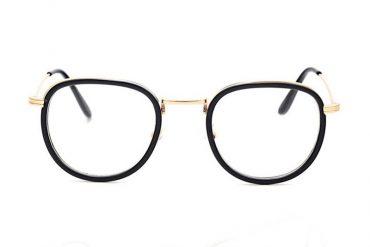 Senoviniai akiniai - skaidrūs, apvalūs