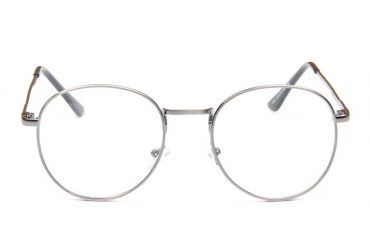 Metalinis apvalus akinių rėmelis