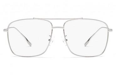 Dideli aviator akiniais sidabriniu rėmeliu