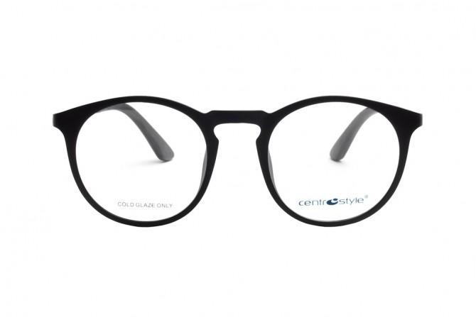 Apvalūs akinių rėmeliai su klipsais