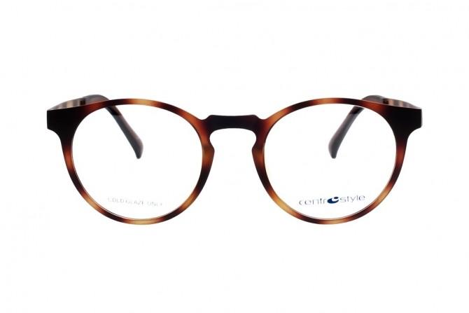 Margi rudi akiniai su poliarizuotais klipsais